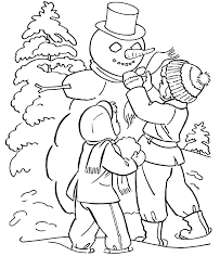 10 Winter Activities Coloring Pages, Winter Coloring Pages (4 ...