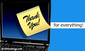 Electronic Thank You Card Free A Thanks At Work Card Free At Work Ecards Greeting Cards