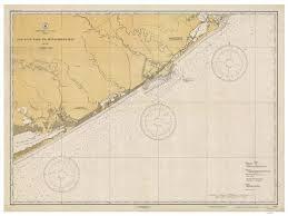 San Luis Pass To East Matagorda Bay 1934 Nautical Old Map Reprint Freeport Oyster Bay Velasco Texas 80000 Ac Chart 1283