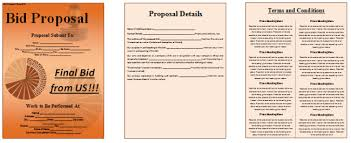 Bid Proposal Template - 6 Best Proposal Examples
