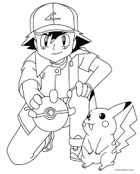 Small Picture Pikachu Coloring Pages Ash And Pikachu Coloring Pagesjpg Page mosatt
