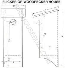 Free Plans for Flicker Bird HouseFlicker Bird House printable plans