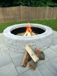 outdoor fire pit kits stone outdoor fire pit kits random stone brown round kit minimalist home outdoor fire pit kits