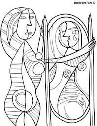 Free Coloring Page Of Paul Klee Painting Senecio You Be The Fun Time