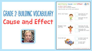 Vocab Building Worksheets Grade 2 Building Vocabulary Cause And Effect Worksheets Kids Academy