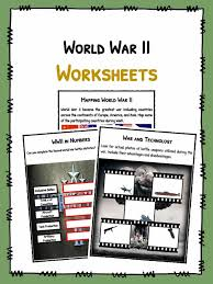 world war ii ww facts worksheets teaching resource  the world war ii facts ww2 worksheets
