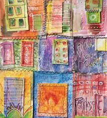 Mixed Media Techniques: 5 Free Mixed Media Art Projects & Mixed Media Painting - Color Wheel Journal by Diana Trout Adamdwight.com