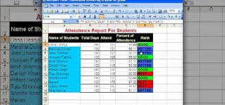 attendance spreadsheet excel how to use conditional formatting for a student attendance report