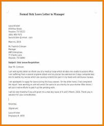Sick Leave Letter From Doctor Examples Of Leave Letters Best Ideas Of Sample Formal Letter For