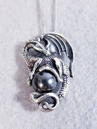 black hematite ball pendant necklace