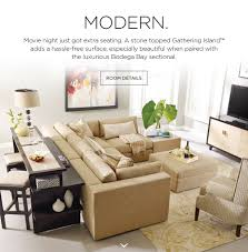 The Bay Living Room Furniture Stickley Furnitures Gathering Island With Stone Top And Bodega