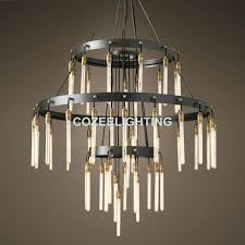 new large big hotel font b chandelier lighting led bulb edison round chandeliers light for home