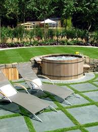 patio ideas with hot tub. Simple Ideas Install The Hot Tub In Garden  25 Ideas To Make Patio In Patio Ideas With Hot Tub