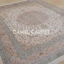 s0920b handmade pure silk large pink oriental rug