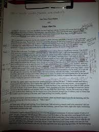 my life as a middle school literacy teacher close reading i began by reading the tell tale heart marking up my text identifying the above elements and making some teaching notes