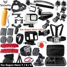 <b>SnowHu For Gopro accessories</b> set For Gopro hero 7 6 5 waterproof ...
