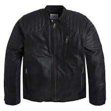 pepe jeans man outerwear biker leather jacket tosh black l about this picture 1 of 2 picture 2 of 2