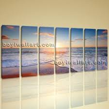 huge hd canvas print 7 pieces framed beach wall art sunset sea wave ocean boyi on extra large ocean wall art with amazing extra large wall art hd printed wall decor for living room