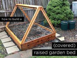 to build a covered raised garden bed