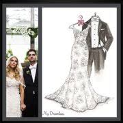 lake saint louis bridal dreamlines wedding dress sketch