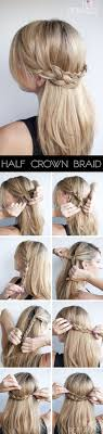 Half Crown Braid Hair Tutoriales De Peinados Peinados A Pelo
