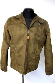 men s designer reportage r d g suede jacket size m made in italy