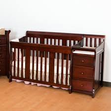 4 in1 crib changer combo in cherry