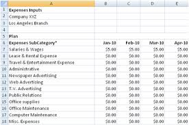 Budget Expense Sheet Free Departmental Budgeting Spreadsheet