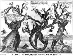 bank war andrew jackson. Contemporary Andrew Bank War Andrew Jackson General Jackson Slaying The Many Headed Monster A  Political Cartoon By For Bank War Andrew Jackson