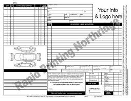 auto repair forms mechanical invoice repair order form ncr forms sets