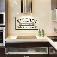 Wall Art For Kitchen Collection Of 10 Wall Art Decals Quotes For Kitchen Stylish