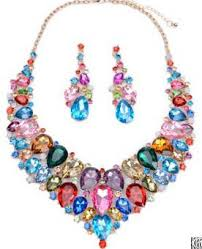 newest design hot with luxury big gemstone jewelry set fahion jewelry whole from china