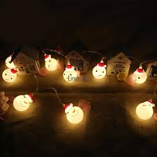 Christmas Snowman Battery Light String Home Decorative Lights 10 Led