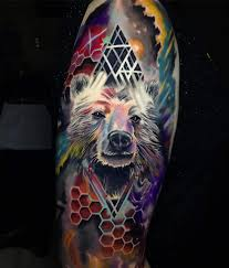 Cosmic Bear Tattoo By Josh Tardani My Favorite Piece So Far Tattoo