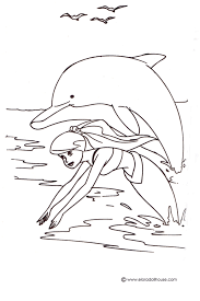 Small Picture Mermaid and Dolphin Coloring Pages 24819 Bestofcoloringcom