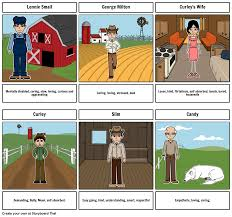 of mice and men characters storyboard by izzy