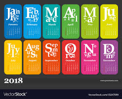 creative calendar. Beautiful Creative Creative Calendar 2018 Vector Image And Calendar 0