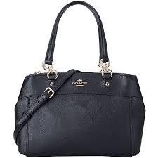 coach coach luxury lady black leather bracelet shoulder cross bag f25395 imblk