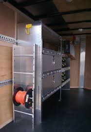 cargo trailer cabinets and shelving