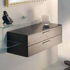 wall mounted chest of drawers contemporary wooden glass disegno flexi 0 512