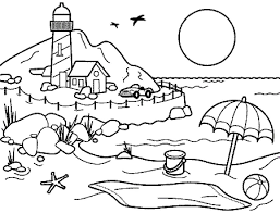 Small Picture Beach Landscape Coloring Pages Beach coloring pages 2 beach beach