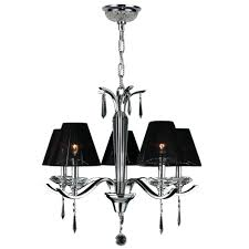 worldwide lighting gatsby collection 5 light polished chrome clear crystal chandelier