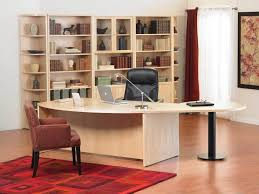 Home Office Best Home Office Design With Light Brown Maple Wood Desk