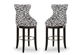 Patterned Bar Stools Interesting Amazon Wholesale Interiors Peace ZebraPrint Patterned Fabric