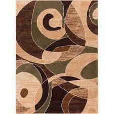 sydney zen abstract mid century green 5 ft x 7 ft
