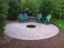 paver patio with fire pit small