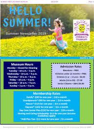 News Letters Newsletters Kearney Childrens Museum