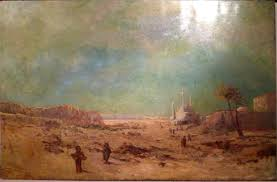 large orientalist oil painting