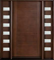 modern wood interior doors. Marvelous Brown Solid Teak Wood Modern Interior Doors For Inspiring Entry Door Ideas Added Frosted Glass Panels Beside