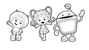 Small Picture Team UmizoomiMilli Geo and Bot Colouring Pages for Preschoolers